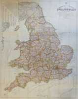 Commercial & Political Map of England & Wales