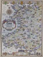 Esso Pictorial Plan Of Wales With Neighbouring Counties