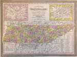 A New Map Of Tennessee With Its Roads And Distances ...