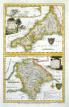 A Modern Map Of Cornwall / A Modern Map Of Devon Shire